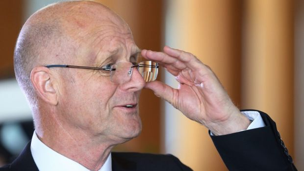 Senator Leyonhjelm at Parliament House on Wednesday.