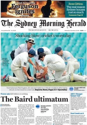 The Sydney Morning Herald, November 26, 2014.