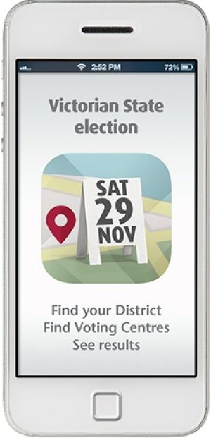 Victorian Electoral Commission app.