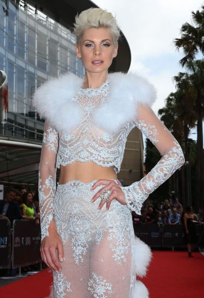 Kate Peck arrives at the 2014 ARIA Awards.