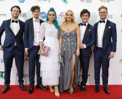 Sheppard arrive at the 2014 ARIA Awards.
