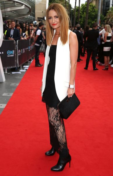 Genevieve Smart arrives at the 2014 ARIA Awards.