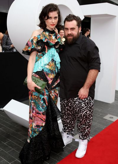 Anna Plunkett and Luke Sales arrive at the 2014 ARIA Awards.