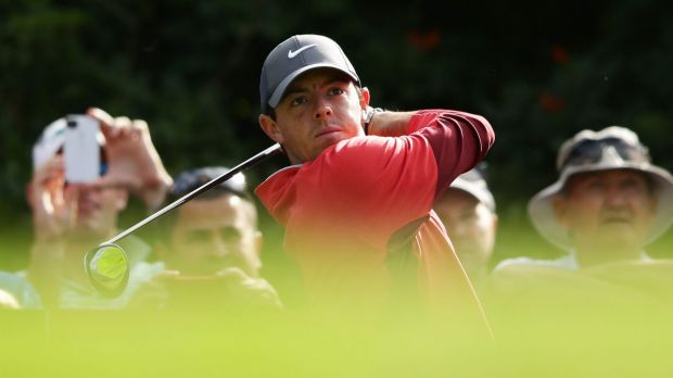 World No.1: Rory McIlroy at The Australian on Wednesday.