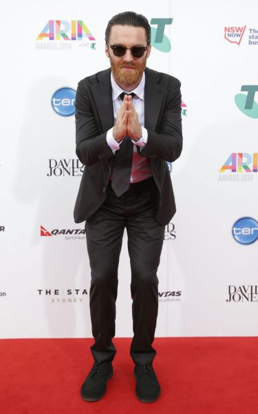 Chet Faker arrives at the 2014 ARIA Awards.