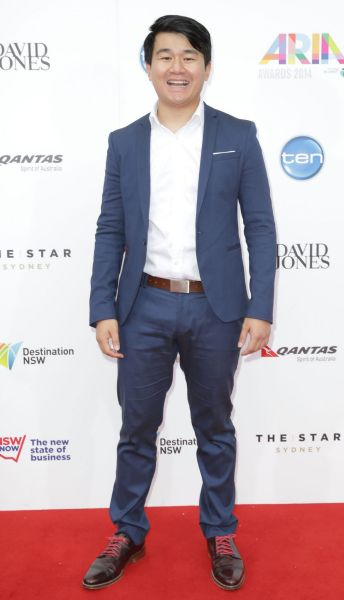 Ronny Chieng arrives at the 2014 ARIA Awards.