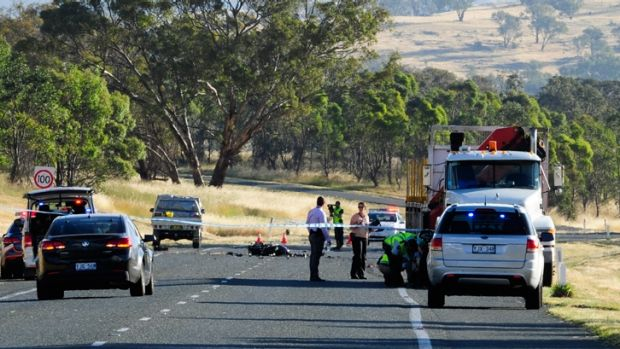 A fatal collision on the Monaro Highway involving a motorcycle and truck was among the 10 road fatalities on ACT roads ...