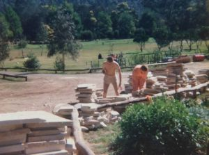Another life: Workers at the Satyananda Yoga Ashram.