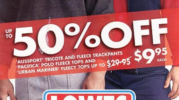 Lowes is known for its no-frills, low-priced clothing.