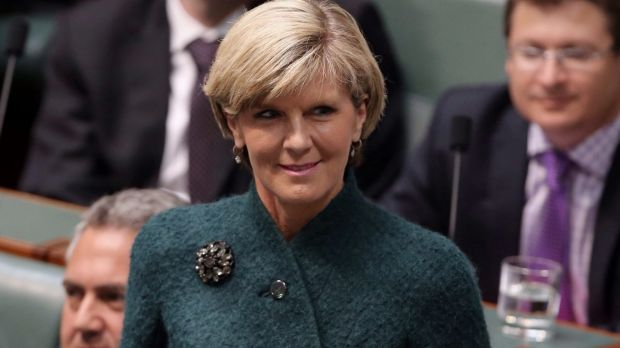 """Julie Bishop: """"That's a story that is a complete and utter beat up""""."""