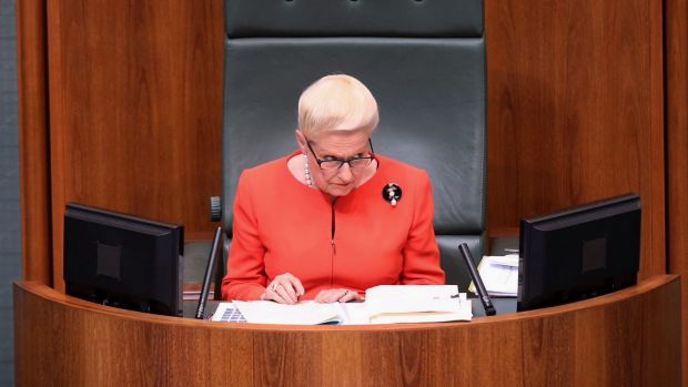 Speaker Bronwyn Bishop in question time on Thursday.