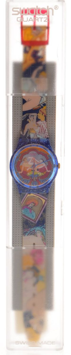 Sex object: A rare 'Sex Tease Kama Sutra' Swatch, released in 1994. Unworn, mint condition, battery removed. $700 to $900.