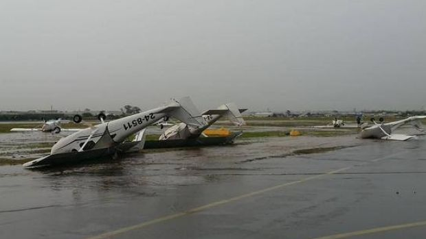 Planes flipped over at Archerfield