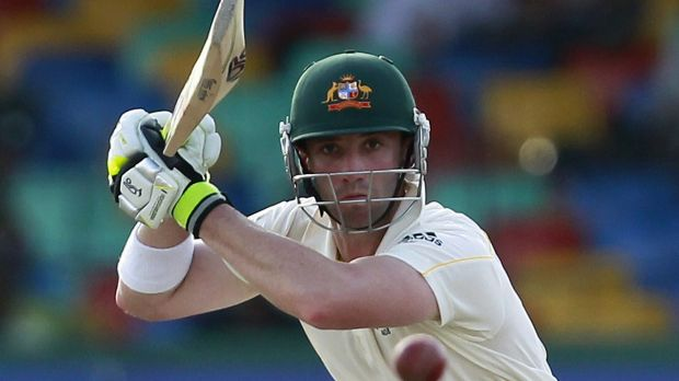 Phillip Hughes in action during the third Test against Sri Lanka in Colombo in 2011.