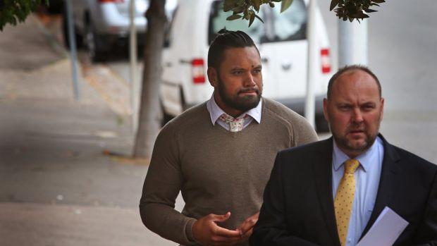 Sacked: Manly recruit Zane Tetevano's career looks over following domestic violence charges.