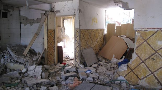 The remains of the Shalodi home in Silwan, which was demolished on the orders of the Israeli government.