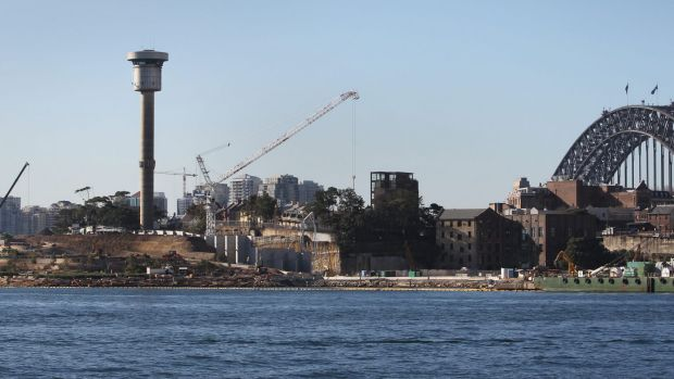Due to be knocked down: The Sydney Harbour Control Tower.