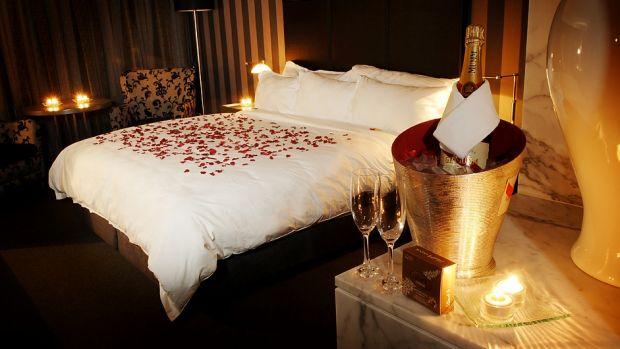 A room at Brisbane's Emporium Hotel.