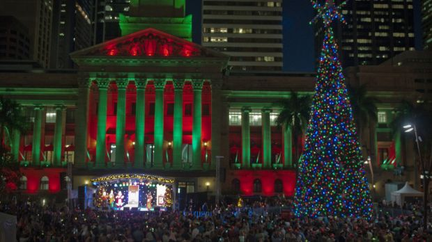 Christmas comes to Brisbane with the lighting of the solar-powered tree with 16,000 lights. Thousands turned out for the ...
