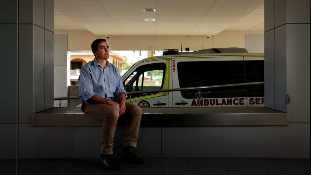 Doctor Tim Stanley at Lake Macquarie Private Hospital. Dr Stanley assisted with treatment of cricket player Phillip ...