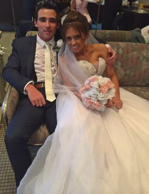 """""""I have never been so proud"""": The bride and best man on her wedding day, November 1."""