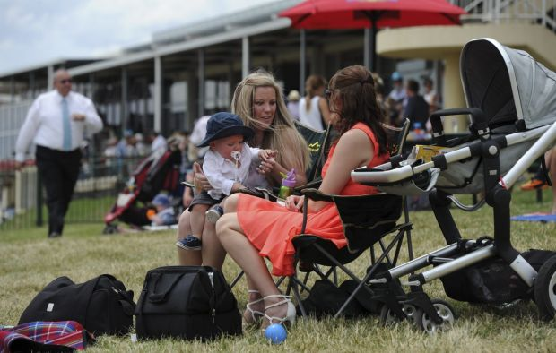 Enjoying a day out in the sun is Charlene McNeil and her son Liam of Jerrabomberra with Lauren DuFall of Gilmore. ...