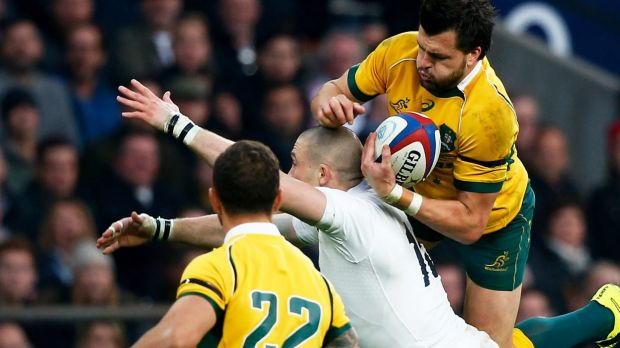 Flying high: Adam Ashley-Cooper starred for the Wallabies.