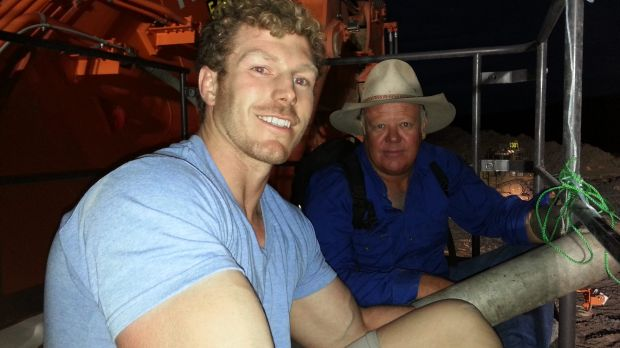 David Pocock and fellow activist, farmer Rick Laird, were arrested on Sunday.