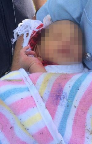 The newborn baby found in a drain at Quakers Hill in November 2014.