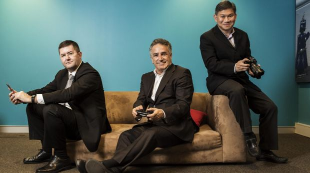 Trio in charge (from left): Peter McKeon, Michael Ephraim and Vincent Yip lead Sony's consumer electronics divisions.