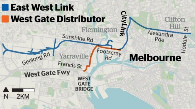 East West Link and West Gate Distributor