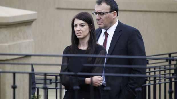 Veronica Ghalloub with her husband Anthony in 2013.