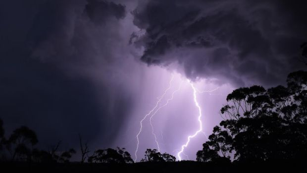 More than 100 lightning strikes were recorded across Sydney.