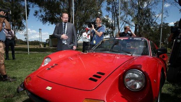 Senator Ricky Muir during the official launch of the  Parliamentary Friends of Motoring.