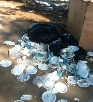 A photo of rubbish taken by Nicole Judge on Manus Island.