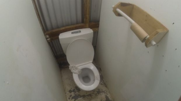 A photo of a toilet on Manus Island, taken by Nicole Judge