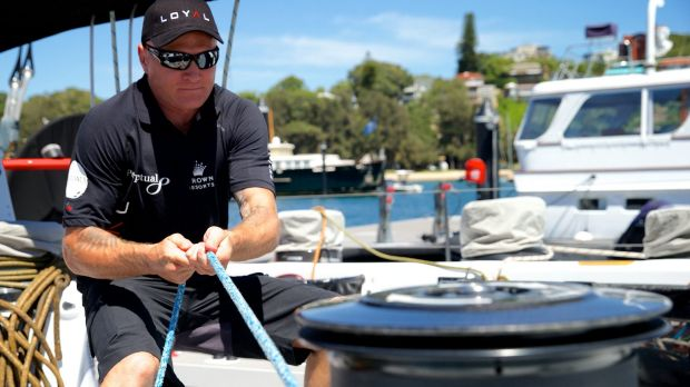Danny Green during his preparation for the 2009 Sydney to Hobart.