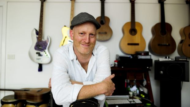 """Greg Stott, musical director of the movie """"The Competiton"""" at his home in Weetangera."""