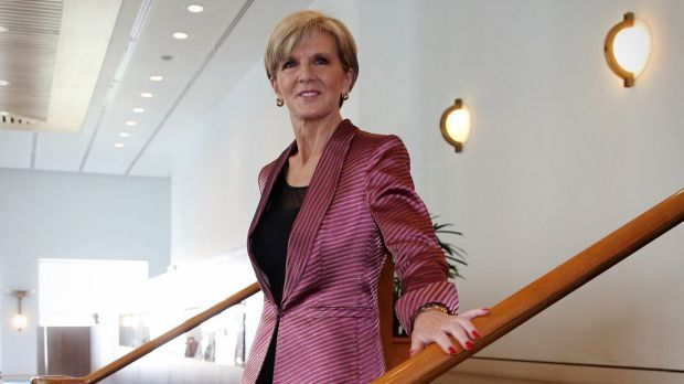 """Ms Bishop on Thursday said it would be """"an efficient use"""" of Andrew Robb and her time to both be present at the climate ..."""