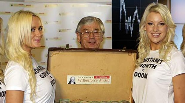 The millionaire and the money  ... and the blondes in Sydney today.