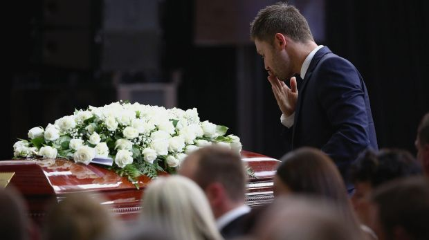 Michael Clarke farewells his friend.