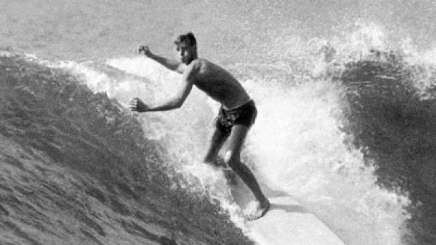 Became hooked on surfing as a 15-year-old Cronulla schoolboy ... Frank Latta in 1964.