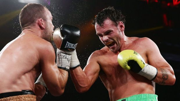 No holding back: Daniel Geale connects with a right uppercut.