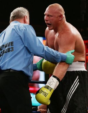Attempts to put Anthony Watts' shoulder back in after the fight were futile.