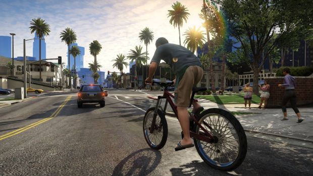 "Arguments you don't often hear: ""GTA encourages players to get outside and ride a bike."""