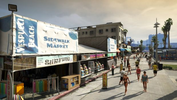 """GTA encourages people to go to the beach and buy a new hat."""
