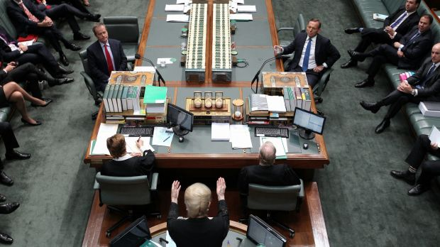 Speaker Bronwyn Bishop has thrown out a record number of rowdy MPs.