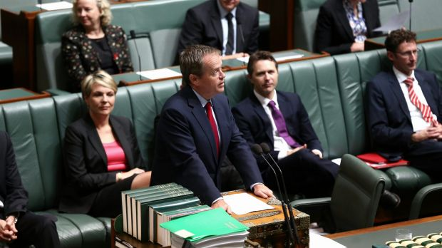 Opposition leader Bill Shorten in Parliament on Thursday.