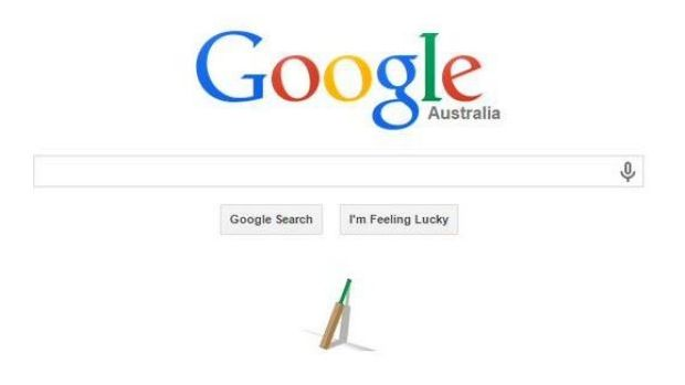 Google's homepage tribute to Phil Hughes.