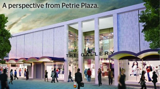 An artist's impression of Canberra Mall's new awning in Petrie Plaza.